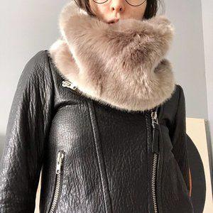 Babaton Faux Fur Cowl Scarf